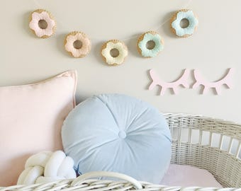 Felt Food, Garland, Rainbow Pastel Donut, Doughnut, Play Kitchen, Play Pretend, Baby Nursery and Childrens Decor, Baby Shower Gift