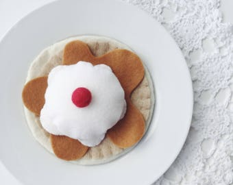 Felt Food Pancakes and Icecream, Maple Syrup, Play Food, Play Kitchen, Pretend Play