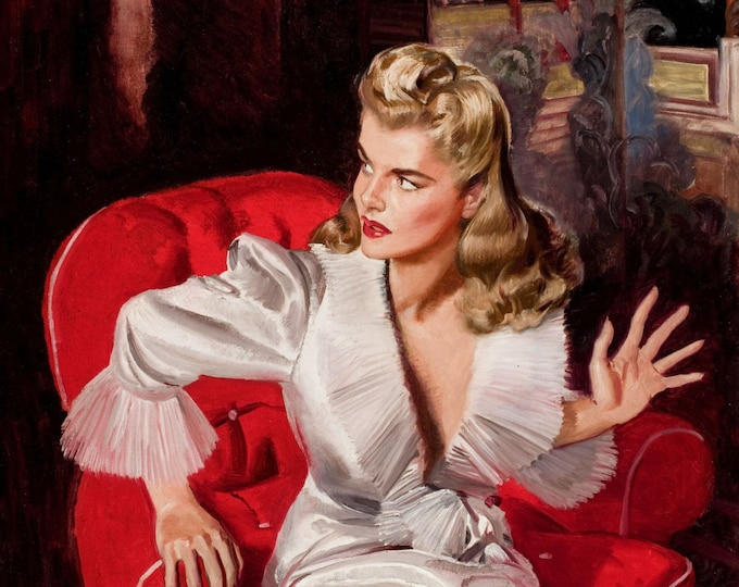 Featured listing image: McClelland Barclay Pulp Art Home Decor Wall Decor Giclee Art Print Poster A4 A3 A2 Large Print FLAT RATE SHIPPING
