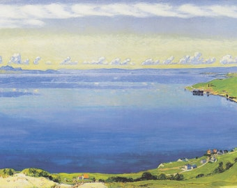 Genfersee von Chexbres aus  by Ferdinand Hodler Home Decor Wall Decor Giclee Art Print Poster A4 A3 A2 Large FLAT RATE SHIPPING