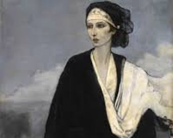 Ida Rubinstein by Romaine Brooks Home Decor Wall Decor Giclee Art Print Poster A4 A3 A2 Large FLAT RATE SHIPPING