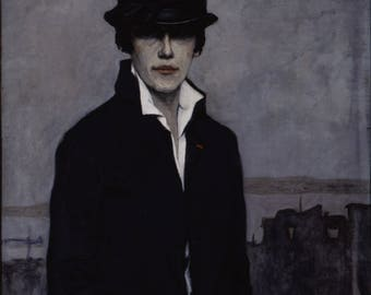 Self-portrait by Romaine Brooks Home Decor Wall Decor Giclee Art Print Poster A4 A3 A2 Large FLAT RATE SHIPPING