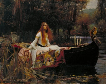 The Lady of Shalott by John William Waterhouse Home Decor Wall Decor Giclee Art Print Poster A4 A3 A2 Large Print FLAT RATE SHIPPING