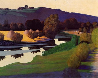 Evening on the Loire  by Félix Vallotton