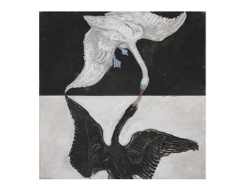 The Swans No. 17 by Hilma af Klint Home Decor Wall Decor Giclee Art Print Poster A4 A3 A2 Large FLAT RATE SHIPPING