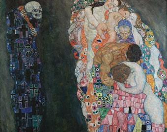 Gustav Klimt Art Print Death and Life