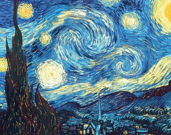 The Starry Night by Vincent Van Gogh Home Decor Wall Decor Giclee Art Print Poster A4 A3 A2 Large Print FLAT RATE SHIPPING
