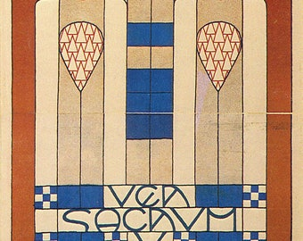 Ausstellung by Koloman Moser Home Decor Wall Decor Giclee Art Print Poster A4 A3 A2 Large Print FLAT RATE SHIPPING