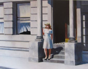 Summertime by Edward Hopper Home Decor Wall Decor Giclee Art Print Poster A4 A3 A2 Large Print FLAT RATE SHIPPING