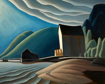 Ice House Coldwell by Lawren Harris Home Decor Wall Decor Giclee Art Print Poster A4 A3 A2 Large Print FLAT RATE SHIPPING