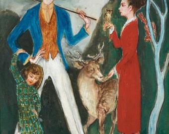 Ynglingen och Flickan by Nils Von Dardel