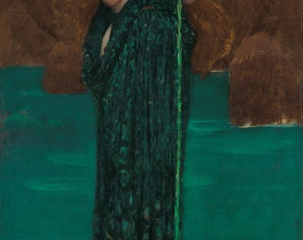 Circe Invidiosa by John William Waterhouse Home Decor Wall Decor Giclee Art Print Poster A4 A3 A2 Large Print FLAT RATE SHIPPING