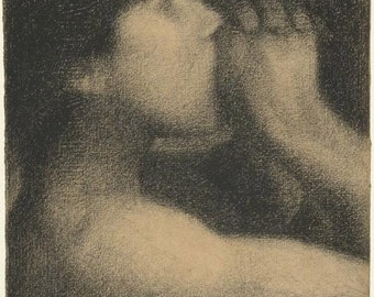 L'écho, study for Une baignade by Georges Seurat