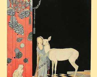 Blondine's Second Awakening by Virginia Frances Sterrett Art Print Wall Decor Giclee Home Decor A4 A3