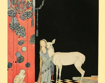 Blondine's Second Awakening by Virginia Frances Sterrett Art Print Wall Decor Giclee Home Decor A4 A3