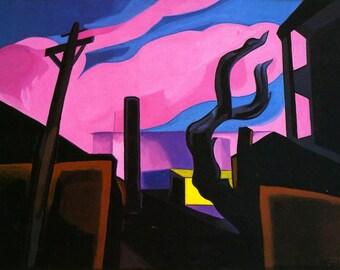 Violet Tones by Oscar Bluemner