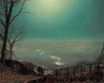 Moonlight Wharfedale by John Atkinson Grimshaw