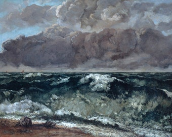 The Wave by Gustave Courbet Home Decor Wall Decor Giclee Art Print Poster A4 A3 A2 Large Print FLAT RATE SHIPPING