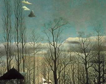 Carnival Evening by Henri Rousseau Home Decor Wall Decor Giclee Art Print Poster A4 A3 A2 Large Print FLAT RATE SHIPPING
