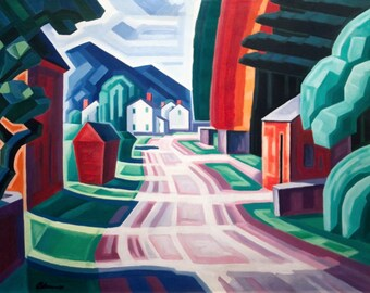 Form and Light, Motif in West New Jersey by Oscar Bluemner