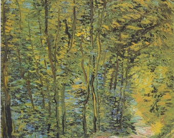 Path in the Woods by Vincent Van Gogh Home Decor Wall Decor Giclee Art Print Poster A4 A3 A2 Large Print FLAT RATE SHIPPING