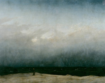 Monk by the Sea by Caspar David Friedrich Home Decor Wall Decor Giclee Art Print Poster A4 A3 A2 Large Print FLAT RATE SHIPPING