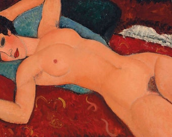 Nu Couché by Amedeo Modigliani Home Decor Wall Decor Giclee Art Print Poster A4 A3 A2 Large Print FLAT RATE SHIPPING
