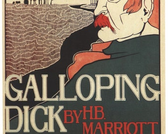 Vintage Poster Galloping Dick Frank Hazenplug Home Decor Wall Decor Giclee Art Print Poster A4 A3 A2 Large Print FLAT RATE SHIPPING