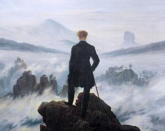 Caspar David Friedrich The Wanderer Above the Sea of Fog