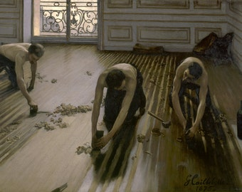 Les raboteurs de parquet by Gustave Caillebotte Home Decor Wall Decor Giclee Art Print Poster A4 A3 A2 Large Print FLAT RATE SHIPPING