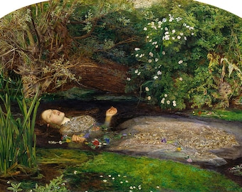 Ophelia by John Everett Millais Home Decor Wall Decor Giclee Art Print Poster A4 A3 A2 Large FLAT RATE SHIPPING