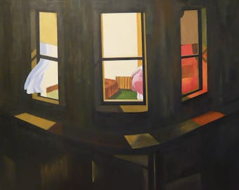 Night Windows by Edward Hopper Home Decor Wall Decor Giclee Art Print Poster A4 A3 A2 Large Print FLAT RATE SHIPPING