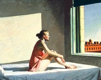 Morning Sun by Edward Hopper Home Decor Wall Decor Giclee Art Print Poster A4 A3 A2 Large Print FLAT RATE SHIPPING