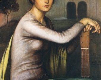 Tristeza Andaluza by Julio Romero de Torres Home Decor Wall Decor Giclee Art Print Poster A4 A3 A2 Large FLAT RATE SHIPPING