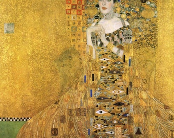 Portrait of Adele Bloch-Bauer by Gustav Klimt  Home Decor Wall Decor Giclee Art Print Poster A4 A3 A2 Large Print FLAT RATE SHIPPING