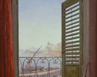 Balcony Room with a View of the Bay of Naples by Carl Gustav Carus