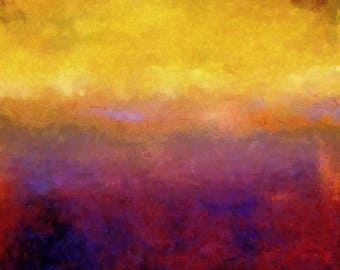 Golden Sunset by Michelle Calkins Wall Decor Giclee Art Print Poster A4 A3 A2 Large Print FLAT RATE SHIPPING