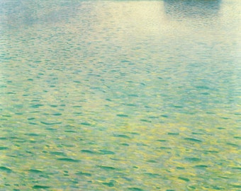 Lake Attersee by Gustav Klimt Home Decor Wall Decor Giclee Art Print Poster A4 A3 A2 Large Print FLAT RATE SHIPPING