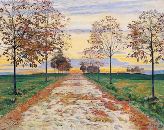 Autumn Evening by Ferdinand Hodler Home Decor Wall Decor Giclee Art Print Poster A4 A3 A2 Large FLAT RATE SHIPPING