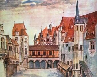Innsbruck Castle Courtyard by Albrecht Dürer Home Decor Wall Decor Giclee Art Print Poster A4 A3 A2 Large Print FLAT RATE SHIPPING
