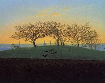 Hill and Ploughed Field near Dresden by Caspar David Friedrich