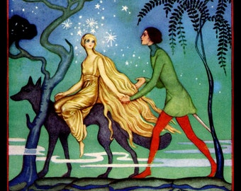 Children's print: The Golden Mermaid by Jennie Harbour