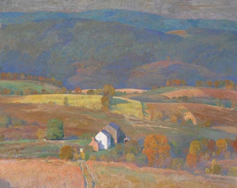 Corn by Daniel Garber Home Decor Wall Decor Giclee Art Print Poster A4 A3 A2 Large FLAT RATE SHIPPING