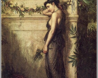 Gone But Not Forgotten by John William Waterhouse Home Decor Wall Decor Giclee Art Print Poster A4 FLAT RATE SHIPPING