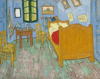 The bedroom Vincent Van Gogh Home Decor Wall Decor Giclee Art Print Poster A4 A3 A2 Large Print FLAT RATE SHIPPING