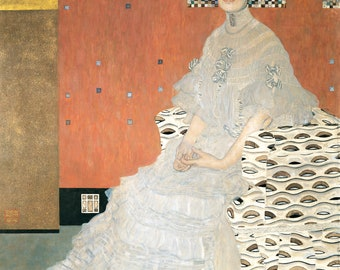 Portrait of Fritza Riedler by Gustav Klimt Home Decor Wall Decor Giclee Art Print Poster A4 A3 A2 Large Print Flat Rate Shipping