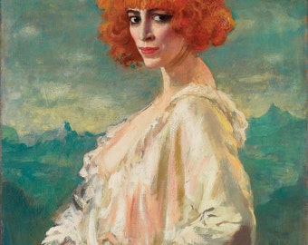 The Marchesa Casati by Augustus Edwin John Home Decor Wall Decor Giclee Art Print Poster A4 A3 A2 Large Print FLAT RATE SHIPPING