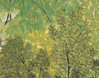 New Leaves by Hayami Gyoshu Home Decor Wall Decor Giclee Art Print Poster A4 A3 A2 Large Print FLAT RATE SHIPPING