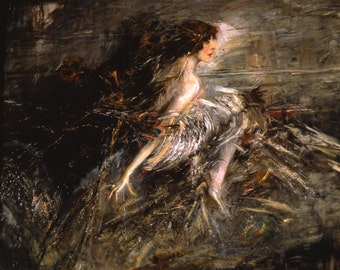 Ritratto della Marchesa Casati  by Giovanni Boldini Home Decor Wall Decor Giclee Art Print Poster A4 A3 A2 Large FLAT RATE SHIPPING