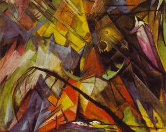 Tyrol by Franz Marc Home Decor Wall Decor Giclee Art Print Poster A4 A3 A2 Large Print FLAT RATE SHIPPING